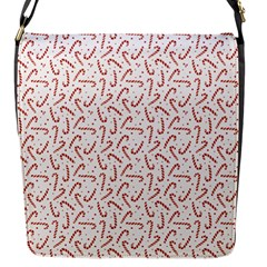 Candy Cane Flap Messenger Bag (s) by patternstudio