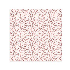 Candy Cane Small Satin Scarf (square) by patternstudio