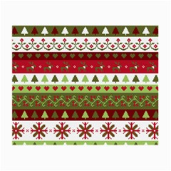 Christmas Spirit Pattern Small Glasses Cloth by patternstudio