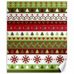 Christmas Spirit Pattern Canvas 8  X 10  by patternstudio