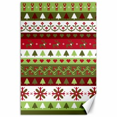 Christmas Spirit Pattern Canvas 24  X 36  by patternstudio
