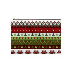 Christmas Spirit Pattern Cosmetic Bag (medium)  by patternstudio
