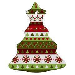 Christmas Spirit Pattern Ornament (christmas Tree)  by patternstudio