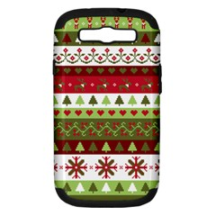 Christmas Spirit Pattern Samsung Galaxy S Iii Hardshell Case (pc+silicone) by patternstudio