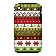 Christmas Spirit Pattern Iphone 3s/3gs by patternstudio