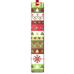 Christmas Spirit Pattern Large Book Marks by patternstudio