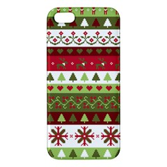 Christmas Spirit Pattern Apple Iphone 5 Premium Hardshell Case by patternstudio