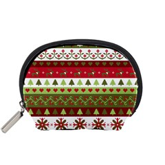Christmas Spirit Pattern Accessory Pouches (small)  by patternstudio