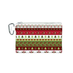 Christmas Spirit Pattern Canvas Cosmetic Bag (s) by patternstudio