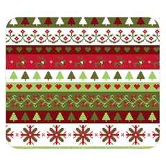 Christmas Spirit Pattern Double Sided Flano Blanket (small)