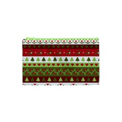 Christmas Spirit Pattern Cosmetic Bag (xs) by patternstudio