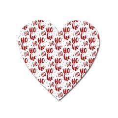 Ho Ho Ho Santaclaus Christmas Cheer Heart Magnet by patternstudio