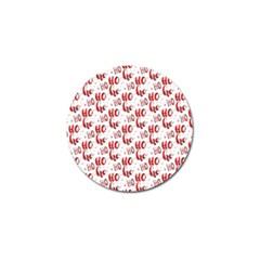 Ho Ho Ho Santaclaus Christmas Cheer Golf Ball Marker (4 Pack) by patternstudio