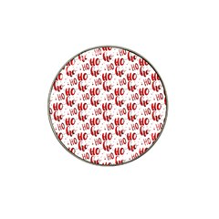 Ho Ho Ho Santaclaus Christmas Cheer Hat Clip Ball Marker (4 Pack) by patternstudio
