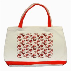 Ho Ho Ho Santaclaus Christmas Cheer Classic Tote Bag (red) by patternstudio