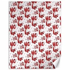 Ho Ho Ho Santaclaus Christmas Cheer Canvas 12  X 16   by patternstudio