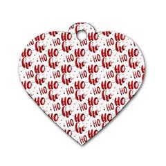 Ho Ho Ho Santaclaus Christmas Cheer Dog Tag Heart (two Sides) by patternstudio