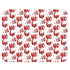 Ho Ho Ho Santaclaus Christmas Cheer Double Sided Flano Blanket (medium)  by patternstudio