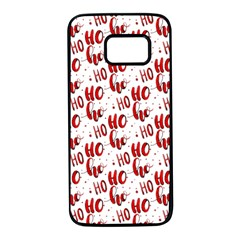 Ho Ho Ho Santaclaus Christmas Cheer Samsung Galaxy S7 Black Seamless Case by patternstudio