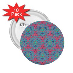 Bereket Pink Blue 2 25  Buttons (10 Pack)  by Cveti