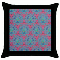 Bereket Pink Blue Throw Pillow Case (black) by Cveti
