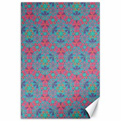 Bereket Pink Blue Canvas 20  X 30   by Cveti