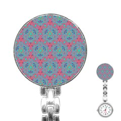 Bereket Pink Blue Stainless Steel Nurses Watch by Cveti