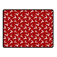 Red Reindeers Double Sided Fleece Blanket (small)  by patternstudio