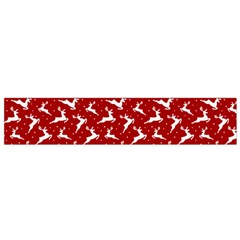 Red Reindeers Small Flano Scarf by patternstudio
