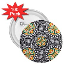 Beveled Geometric Pattern 2 25  Buttons (100 Pack)  by linceazul
