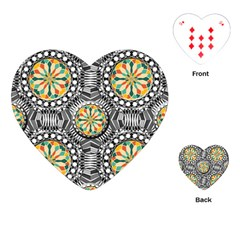 Beveled Geometric Pattern Playing Cards (heart)  by linceazul