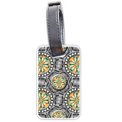 Beveled Geometric Pattern Luggage Tags (one Side)  by linceazul