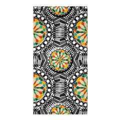 Beveled Geometric Pattern Shower Curtain 36  X 72  (stall)  by linceazul