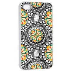 Beveled Geometric Pattern Apple Iphone 4/4s Seamless Case (white) by linceazul