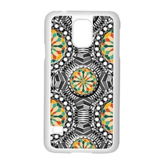 Beveled Geometric Pattern Samsung Galaxy S5 Case (white) by linceazul