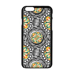 Beveled Geometric Pattern Apple Iphone 6/6s Black Enamel Case by linceazul