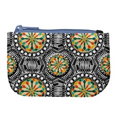 Beveled Geometric Pattern Large Coin Purse by linceazul
