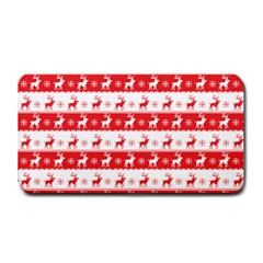 Knitted Red White Reindeers Medium Bar Mats by patternstudio