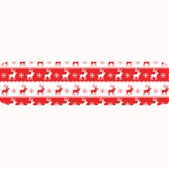 Knitted Red White Reindeers Large Bar Mats by patternstudio