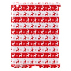 Knitted Red White Reindeers Apple Ipad 3/4 Hardshell Case (compatible With Smart Cover) by patternstudio