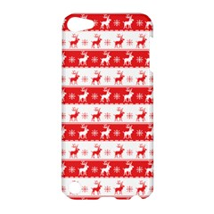 Knitted Red White Reindeers Apple Ipod Touch 5 Hardshell Case by patternstudio