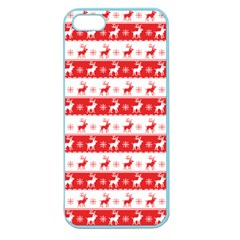 Knitted Red White Reindeers Apple Seamless Iphone 5 Case (color) by patternstudio