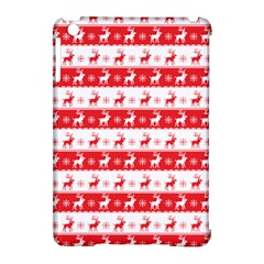 Knitted Red White Reindeers Apple Ipad Mini Hardshell Case (compatible With Smart Cover) by patternstudio