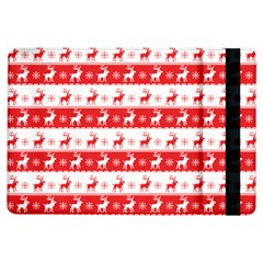 Knitted Red White Reindeers Ipad Air Flip by patternstudio