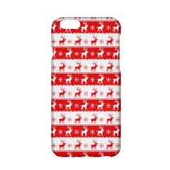 Knitted Red White Reindeers Apple Iphone 6/6s Hardshell Case by patternstudio
