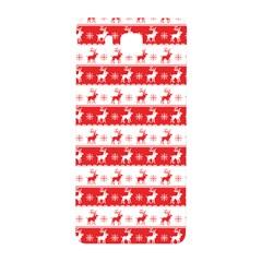 Knitted Red White Reindeers Samsung Galaxy Alpha Hardshell Back Case by patternstudio