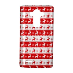 Knitted Red White Reindeers Lg G4 Hardshell Case by patternstudio