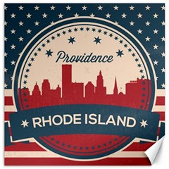 Providence Rhode Island Retro Skyline Canvas 12  X 12   by allthingseveryday