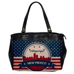 Retro  Albuquerque New Mexico Skyline Office Handbags by allthingseveryday