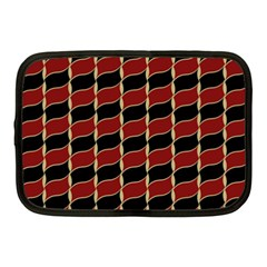 Leaves Red Black Netbook Case (medium)  by Cveti